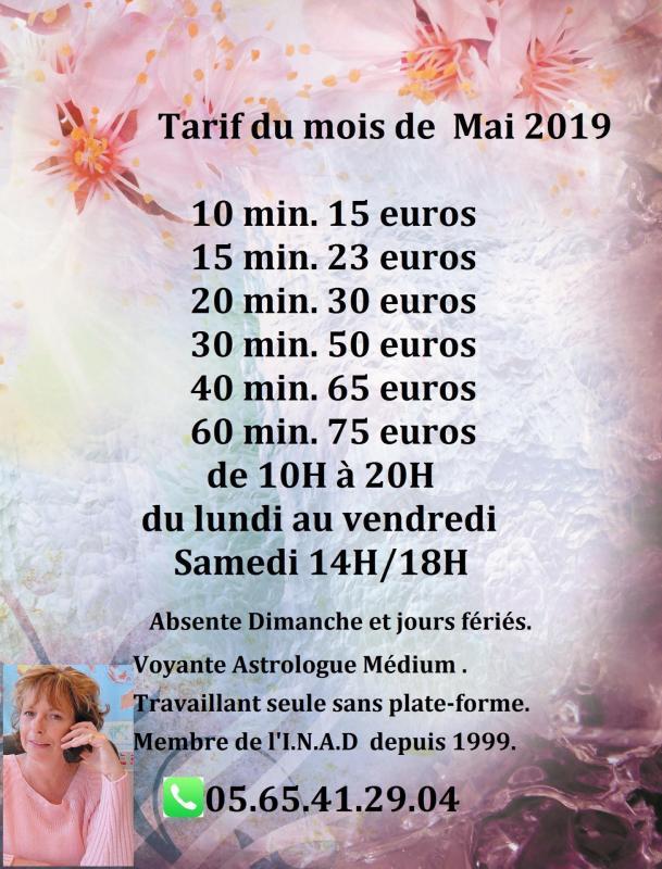 Mai tarif 2019