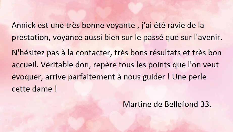 Martine de bellefond 33 carte recu par mail